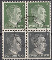 DEUTSCHES REICH - 1942 - Coppia Unita Di Due Valori Usati Se-tenant Michel W 59 Per Complessivi 4 Valori. - Se-Tenant