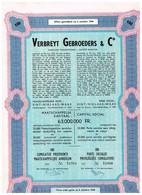 Titre Ancien - Verbreyt Gebroeders & C°  - Titre émis Après Le 06/10/1944 - Textiel
