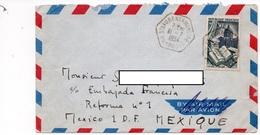 LAC 1954 - Cachet Hexagonal - ST LAURENT Sur MANOIRE  (Dordogne) Sur YT 971 - Enveloppe Pour Le Mexique - 1921-1960: Periodo Moderno
