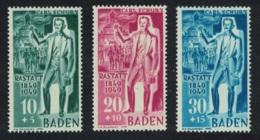 Baden Centenary Of Rastatt Insurrection 3v MH SG#FB50-FB52 CV£40+ - Zona Francese