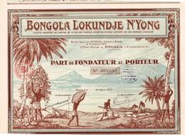 Titre Ancien - Bongola Lokundje N'Yong  - Titre De 1927 - Déco - Africa