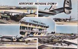 CPS  Aéroport Mondial D'Orly  (94)  Multivues   Pistes Et Avions  Aravelle       Edition Abeilles - Aérodromes