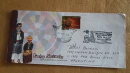 Enveloppe Du Guatemala Envoyée En Argentine, Fêtes Nationales Avec Cachet Spécial - Cultures