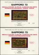 GUINEE EQUATORIALE Poste ** - Michel 75/80, Or Pur, Série Complète De 6 Sur Feuillets Officiels Numéroté: Jeux Olympique - Guinée Equatoriale