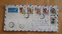 Enveloppe Bulgare Envoyée En Argentine Avec Des Timbres Exploratoires 1994 - Cartas