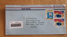 Envoi D'une Enveloppe Moderne Au Koweït Aux États-Unis - Kuwait