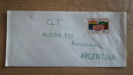 Enveloppe Bolivienne Envoyée En Argentine Avec Des Timbres Drapeaux - Bolivia
