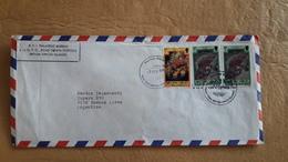 Enveloppe Des îles Vierges Britanniques Envoyée En Argentine Avec Des Coquillages Et Autres Timbres - Coquillages