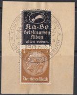 DEUTSCHES REICH - Due Francobolli Yvert 484 Di Cui Uno Coperto Da Sovrastampa Che Riproduce Una Vignetta Pubblicitaria - Deutschland