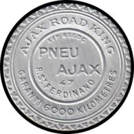 "FRANCE Timbres Monnaie ALU - 138, 10c. Rouge Semeuse, Aluminium, Fond Bleu: ""Pneu Ajax - Paris"" - Autres"