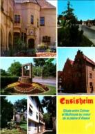 CPM 68 (Haut-Rhin) Ensisheim - Multivues TBE Hôtel De La Couronne, La Régence, Rue Principale, Puits Fleuri, Le Square - Andere Gemeenten