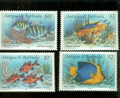 ANTIGUA    1295-8 MINT NEVER HINGED SET OF STAMPS OF FISH-MARINE LIFE - Fishes