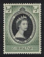 Gibraltar Queen Elizabeth II Coronation 1v MNH SG#144 SC#131 - Gibraltar