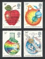 Great Britain Space Sir Isaac Newton 4v MNH SG#1351-1354 SC#1172-1175 - 1952-.... (Elisabeth II.)