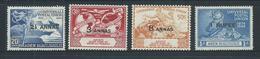 Aden Qu'aiti State Shihr Mukalla 1949 UPU Set 4 MLH / MNH - Aden (1854-1963)