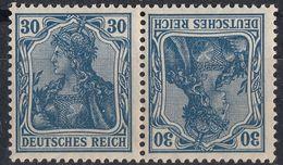 DEUTSCHES REICH - 1921 - Michel K2, Se-tenant tête Bêche Nuovo MNH. - Se-Tenant