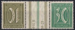 DEUTSCHES REICH - 1921 - Michel KZ 9, Se-tenant Con Ponte, Tête Bêche Nuovo MH. - Se-Tenant