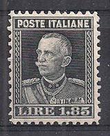 REGNO D'ITALIA 1927 EFFIGE DI V,EMANUELE III SASS. 215 MLH VF - Nuovi