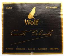 Wolf Beer Label - Bière