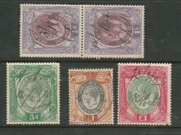 S.Africa, Revenue GVR,  1913 3d, 1/=, £1; 1931 £1, Used - South Africa (...-1961)