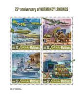 Maldives  2019   Normandy Landings  , World War II   S201904 - Maldives (1965-...)