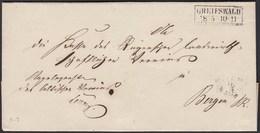 Preussen GREIFSWALD R2 Umschlag Nach BERGEN Rügen  (24583 - Postzegels