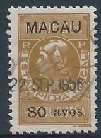 MACAU REVENUE STAMPS 1940'S 80 AVOS LISBON PRINT FINE USED - Autres