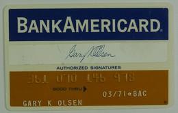 USA - Credit Card - Bank Americard - Exp 03/71- Used - Tarjetas De Crédito (caducidad Min 10 Años)