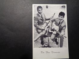 Artiste ( 861 )  Artiest Zanger  Chanteur  ( Geen Postkaart , Blanco Op Achterkant )  :  The Blue Diamonds - Chanteurs & Musiciens