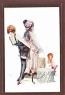ILLUSTRATEUR - JEAN TAM - L'AMOUR AU FRONT - LE CAMOUFLAGE - JEUNE FEMME AUX SEINS NUS ET PETIT DIABLE - EROTIQUE - Illustrators & Photographers