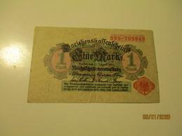 1914 GERMANY  1 MARK , 0 - [ 2] 1871-1918 : Impero Tedesco