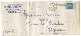 SEMEUSE 25C N°140 PUB ECO ESSENCE LETTRE REDON 5.3.1924 COTE MAURY 150€ - 1906-38 Säerin, Untergrund Glatt