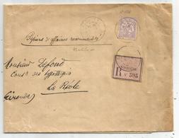 MOUCHON 30C N°128 SEUL GRANDE LETTRE PAPIERS AFFAIRES RECOMMANDES ANGOULEME 1903 TARIF 4EME - 1900-02 Mouchon