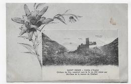 (RECTO / VERSO) SAINT DENIS EN 1909 - CHATEAU DE CLY - BEAU TIMBRE ET CACHET -  CPA VOYAGEE - Italia