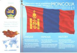 POSTAL   BANDERA DE MONGOLIA - Otras Colecciones