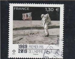 FRANCE 1969 - 2019 PREMIER PAS DE L HOMME SUR LA LUNE OBLITERE - Used Stamps