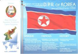 POSTAL   BANDERA DE KOREA - Otras Colecciones