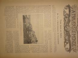 """Article D'une Revue Parue En 1896 """"Trois Jours En Galicie - De Tuy à Saint-Jacques De Compostelle"""" Espagne, Char à Bœufs - Oude Documenten"""