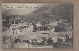CPA 06 - LANTOSQUE - Vue Prise Du Riou - La Gare - Tram De La Vallée De La Vésubie - VOIE CHEMIN DE FER TRAMWAY - Lantosque