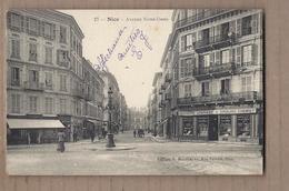 CPA 06 - NICE - Avenue Notre-Dame - TB PLAN Place Croisement Rues CENTRE VILLE MAGASINS PHARMACIE à Droite - Nice