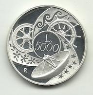 1999 - Italia 5.000 Lire Anno 2000 - Senza Confezione - Gedenkmünzen