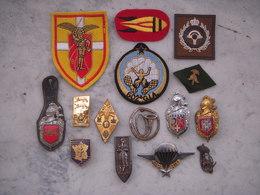 Lot D' Insignes Militaires/gendarmerie (tissus/métals) Divers  !!! - Armée De Terre