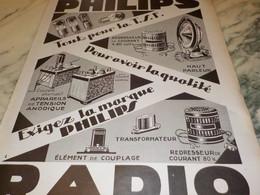ANCIENNE PUBLICITE EXIGEZ RADIO  PHILIPS  1927 - Autres