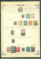 Collection Bolivie Sur Feuilles - Stamps