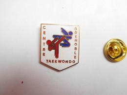 Superbe Pin's En EGF , Arts Martiaux , Centre Taekwondo De Grenoble , Isére , Signé CAM - Judo
