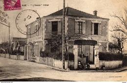 "ANDERNOS-les-BAINS  ""L'Oasis"" Hôtel  Restaurant.  Carte écrite En 1934  2 Scans - Andernos-les-Bains"