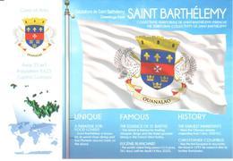POSTAL   BANDERA DE SAINT BARTHÉLEMY - Otras Colecciones