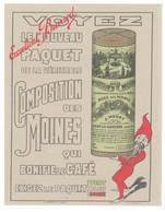 Buvard Composition Des Moines / Moka Des Moines , J. Hoüet, Clichy La Garenne , Lutin Barbu Rouge - M
