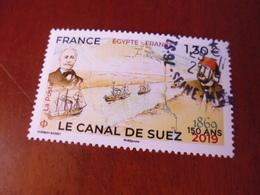 OBLITERATION CHOISIE  SUR TIMBRE NEUF  CANAL DE SUEZ - France