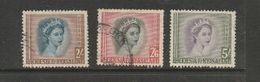 Rhodesia & Nyasaland, 4 1/2d, 2/-, 2/6, 5/=, C.d.s. Used - Rhodesia & Nyasaland (1954-1963)